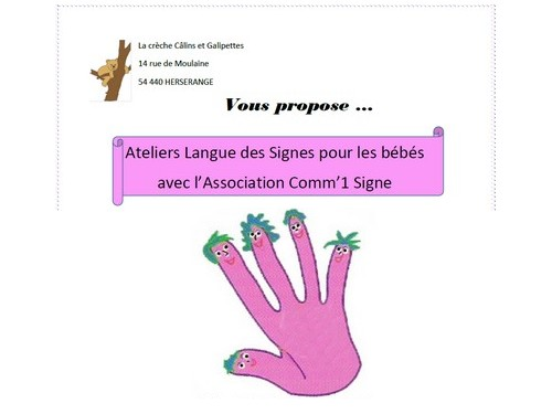 Crèche : Atelier langue des signes pour les bébés