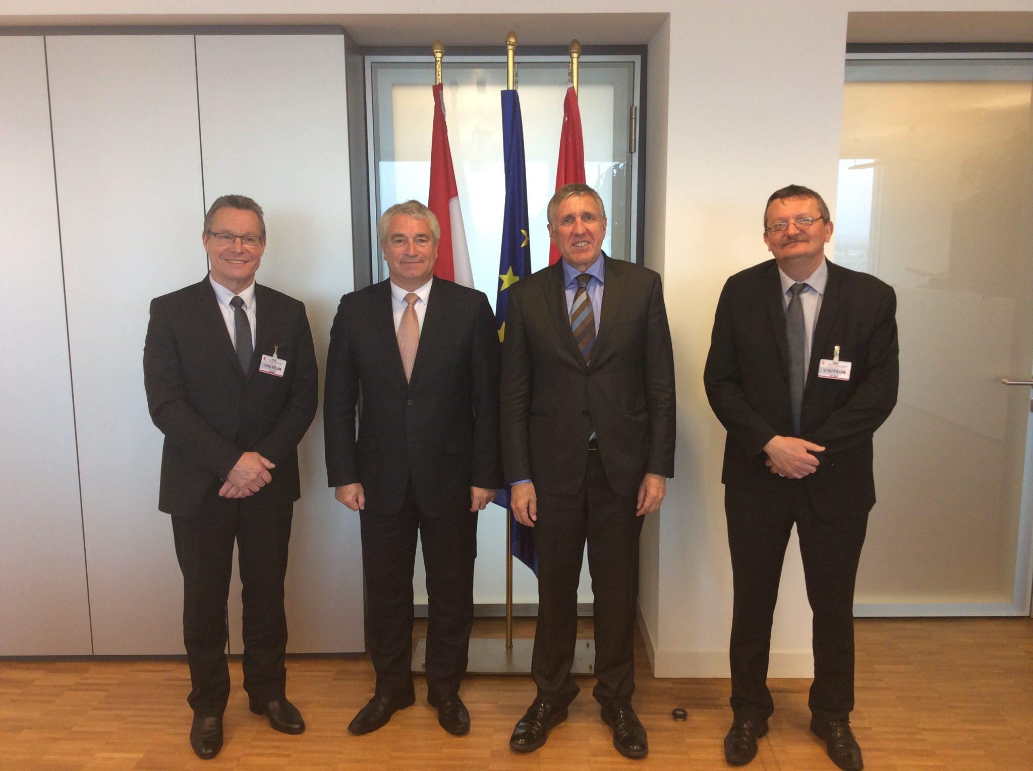 Rencontre avec le ministre des transports Luxembourgeois