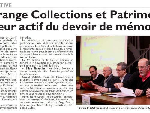 Herserange Collections et Patrimoine : un acteur actif du devoir de mémoire