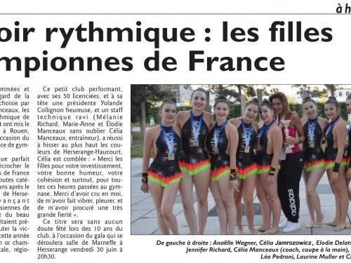 Espoir Rythmique : les filles championnes de France
