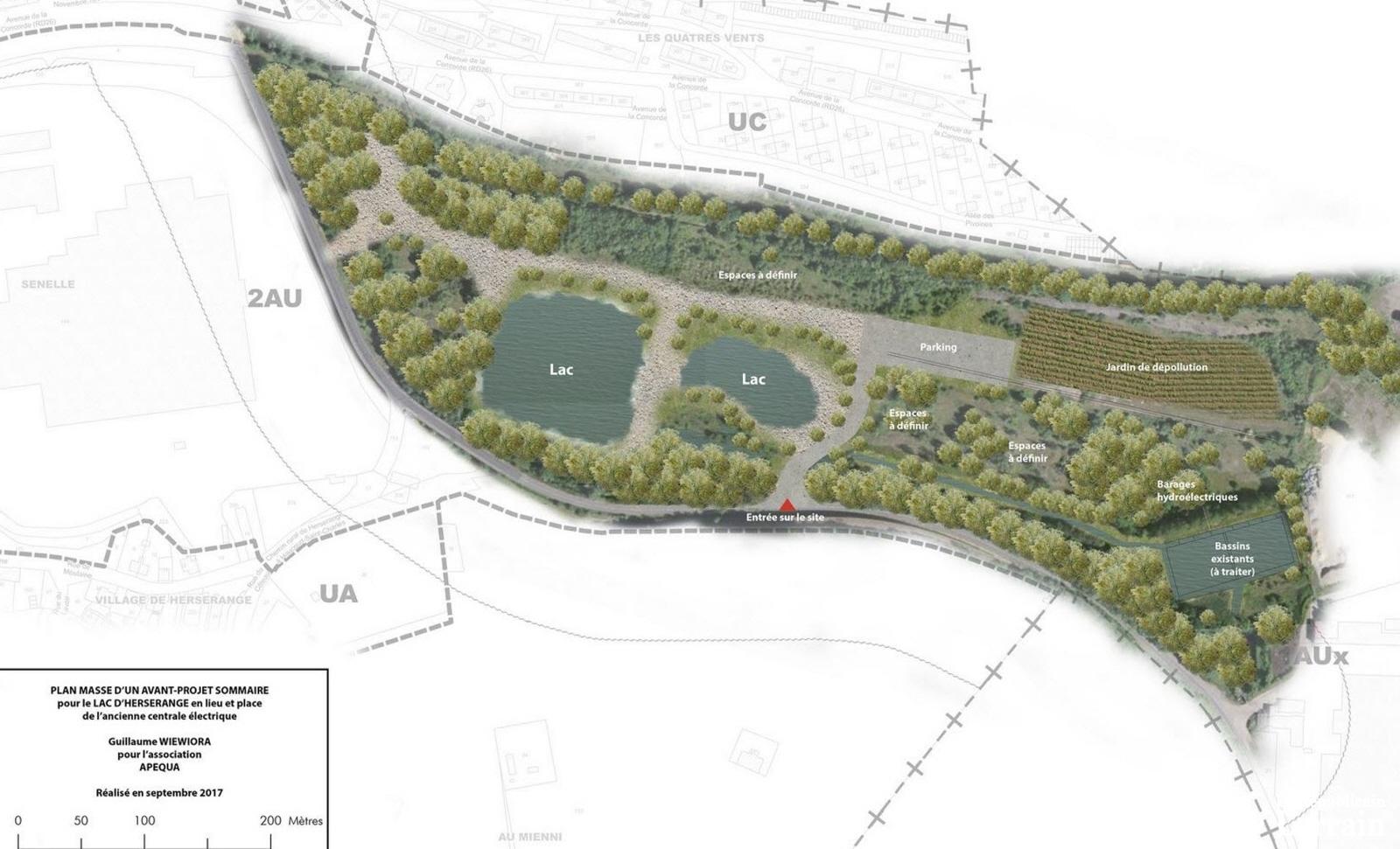 Le projet de recréation du lac sort (enfin ?) du bois