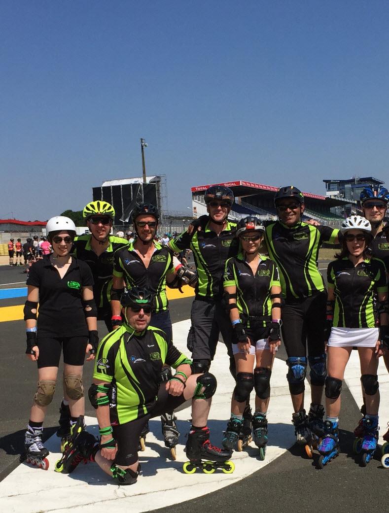 Les riders du Roller club aux 24h du Mans