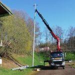 Travaux : installation de projecteurs LED au stade municipal