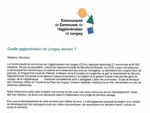 CCAL : Questionnaire Projet de Territoire