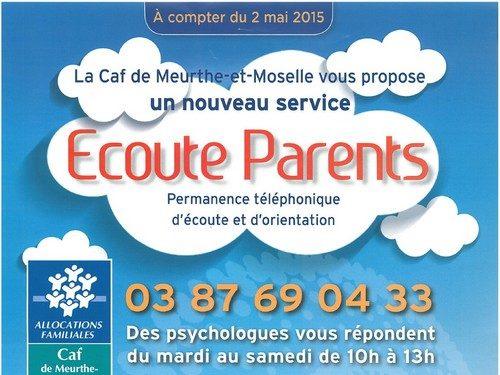 Ecoute Parents : Permanence téléphonique d'écoute et d'orientation