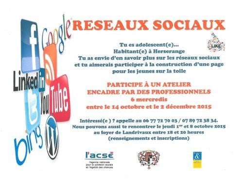 """Atelier """"Réseaux Sociaux"""" pour les Jeunes"""