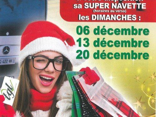TGL : Super Navette les dimanches 6, 13 et 20 décembre 2015