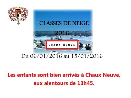 Classe de neige : les enfants sont bien arrivés à Chaux Neuve