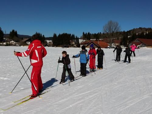 Le départ pour les classes de neige à Chaux Neuve
