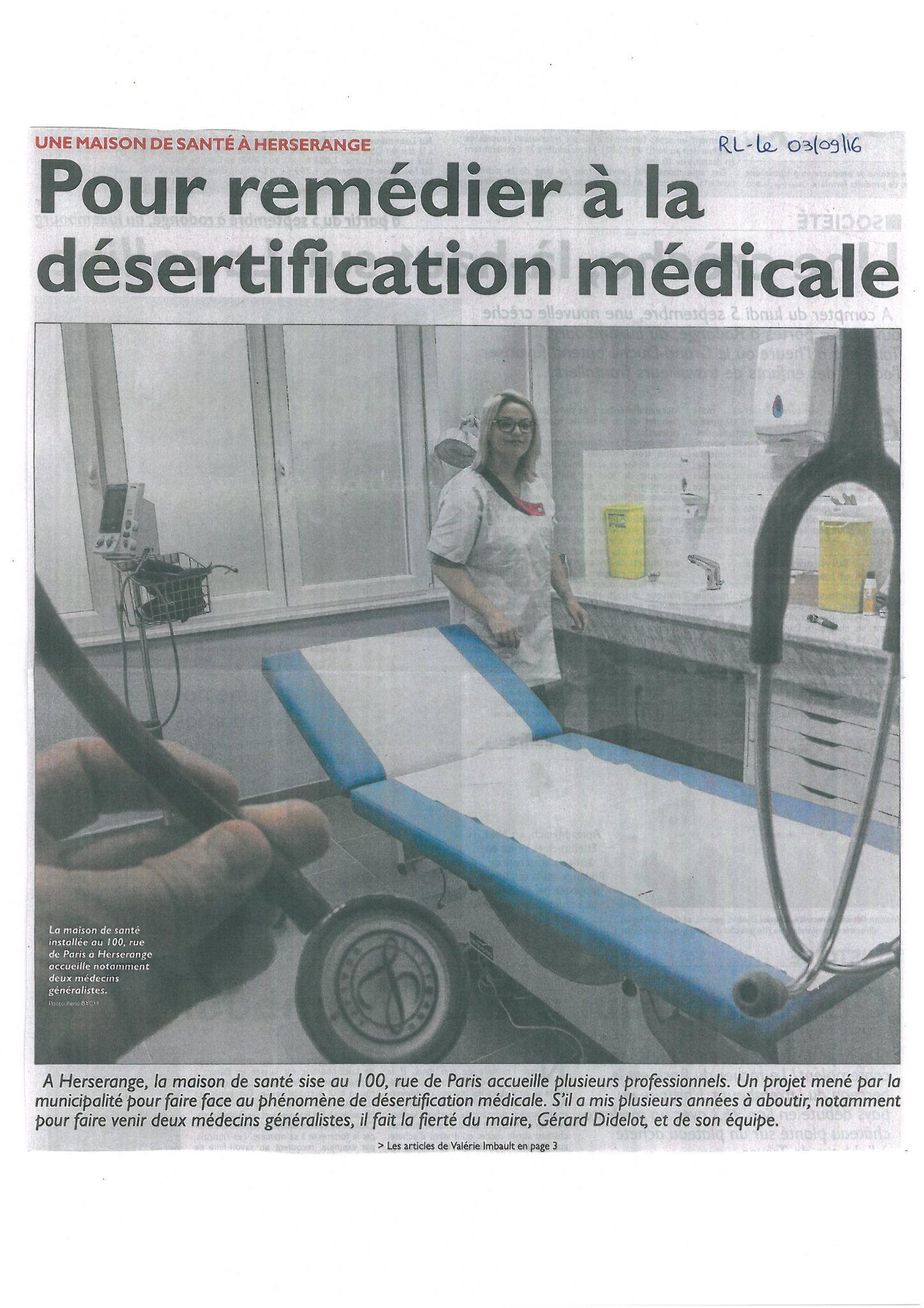 Une maison de santé érigée contre la désertification