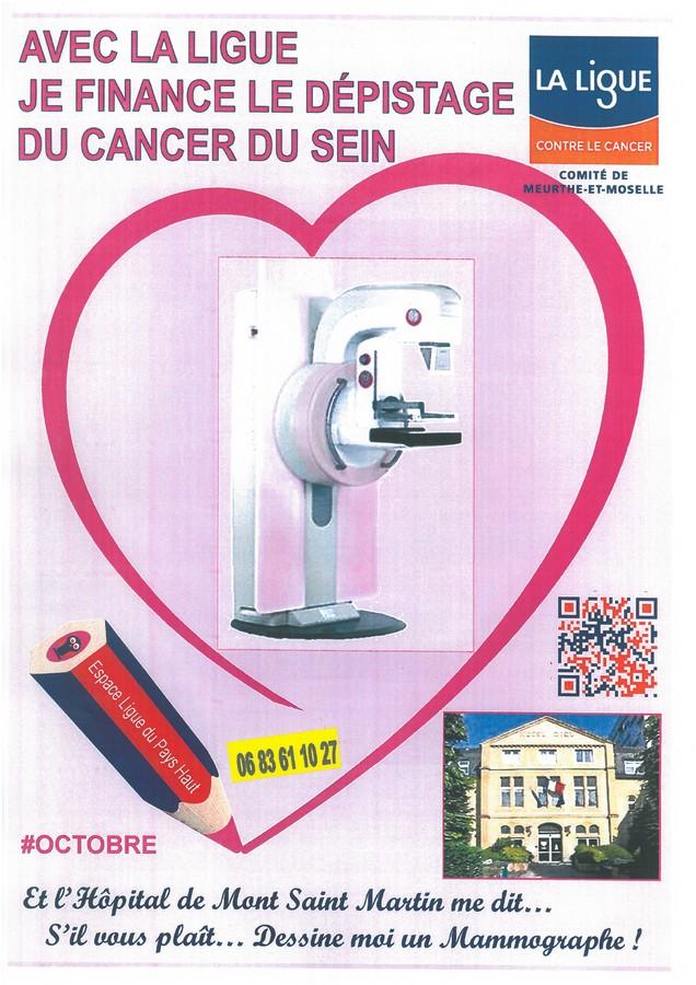 Ligue contre le cancer : un mammographe pour l'hôpital de Mont-Saint-Martin