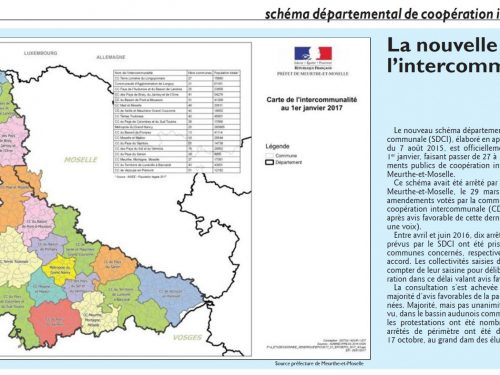La nouvelle carte de l'intercommunalité
