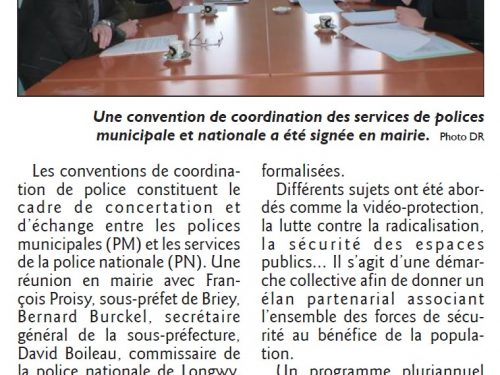 Convention entre polices municipale et nationale