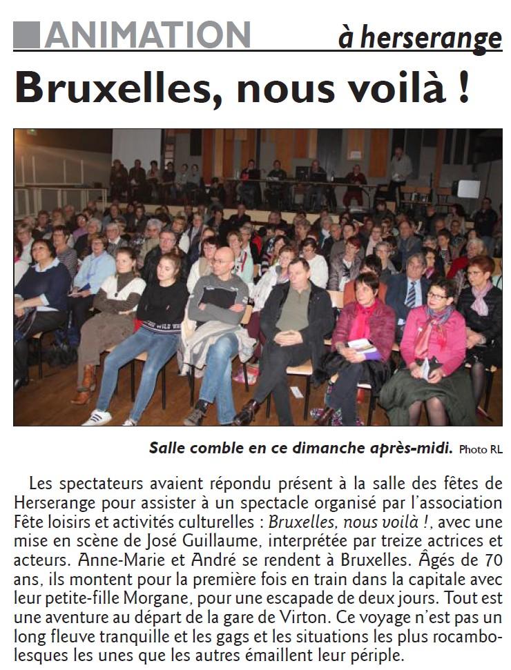 Bruxelles, nous voilà !