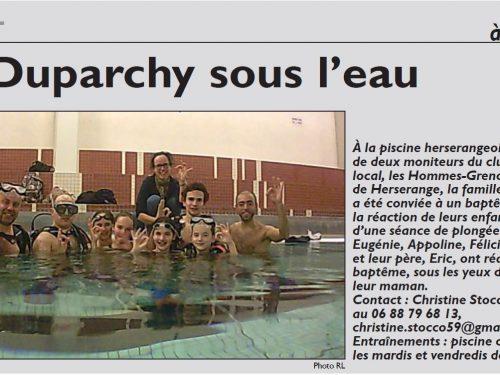 Les Duparchy sous l'eau