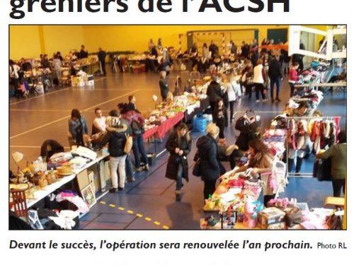 Du monde au vide-greniers de l'ACSH