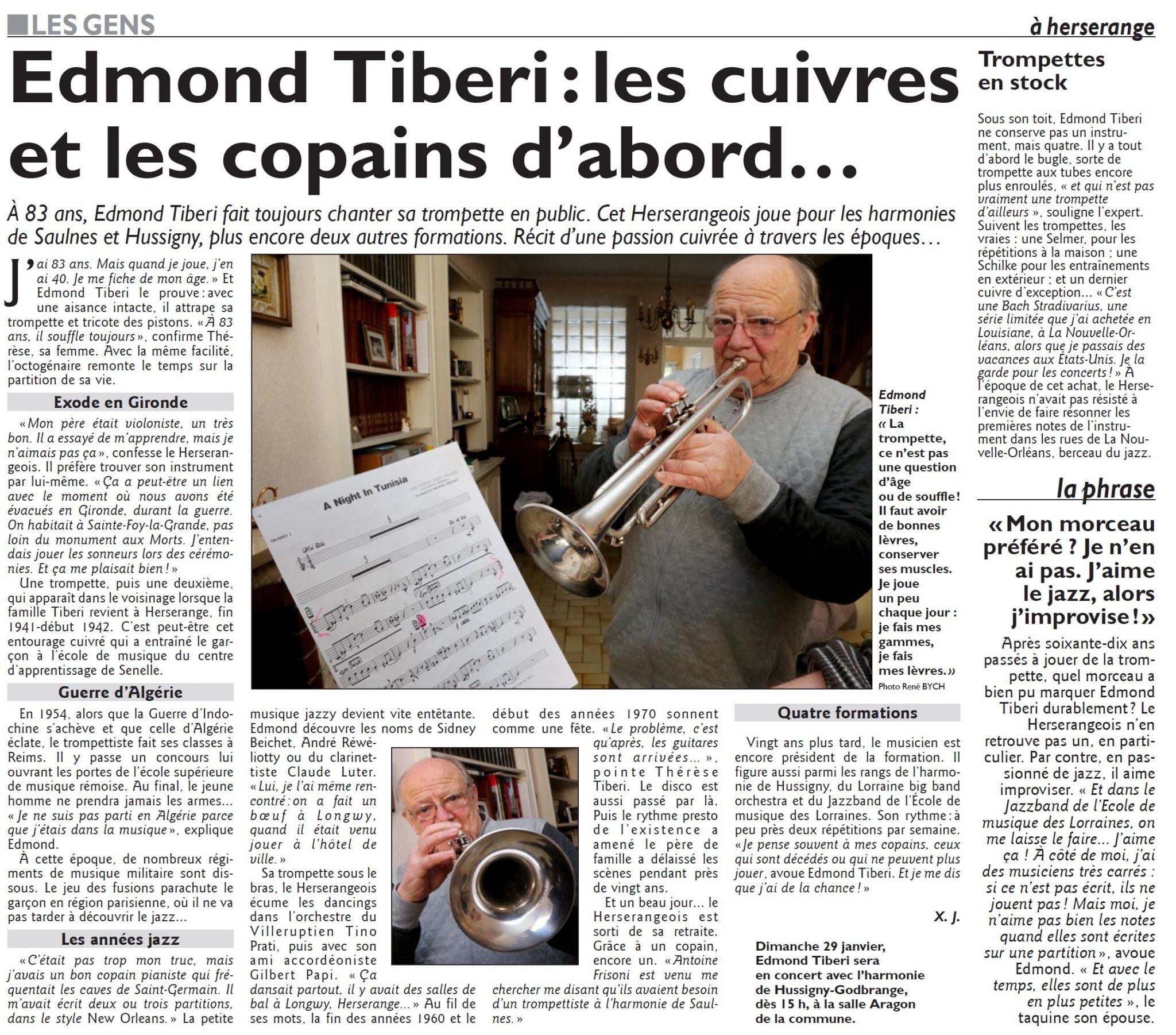 Edmond Tiberi : les cuivres et les copains d'abord…