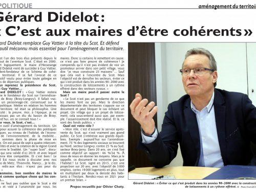 """Gérard Didelot : """"C'est aux Maires d'être cohérents"""""""