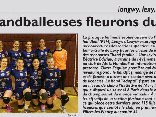 Les handballeuses fleurons du club