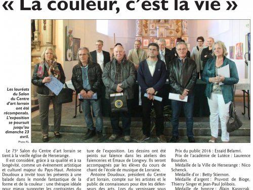 """Centre d'Art Lorrain : """"La couleur c'est la vie"""""""