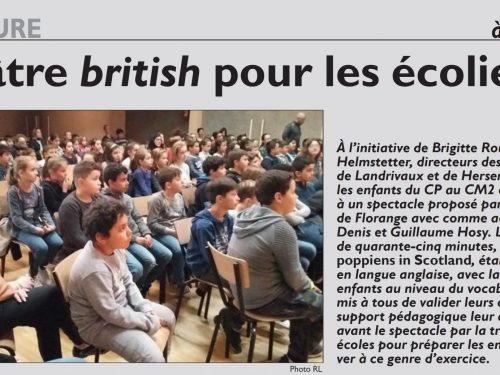 Théâtre british pour les écoliers
