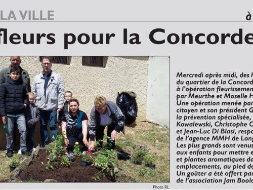 Des fleurs pour la Concorde