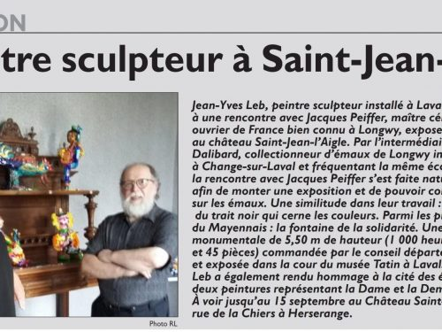 Un peintre sculpteur à St Jean l'Aigle