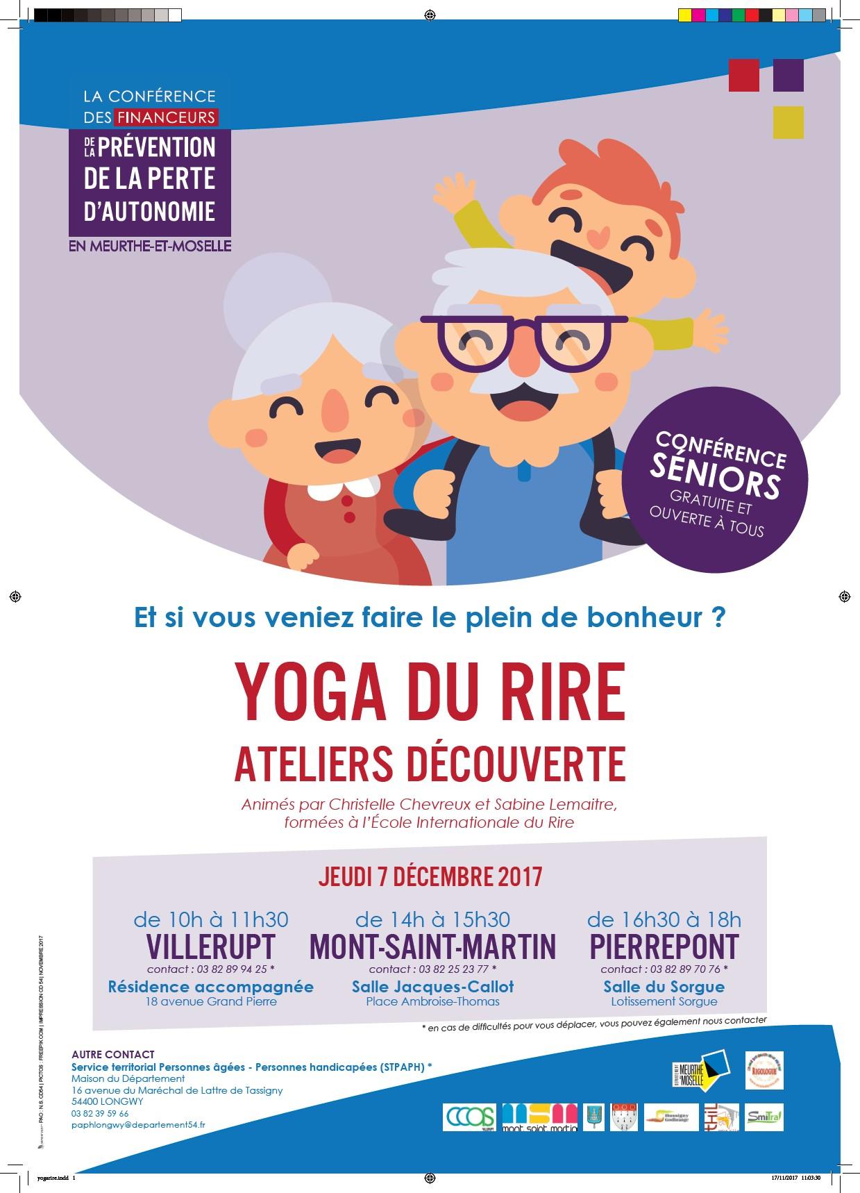 Conférence Séniors : Yoga du rire