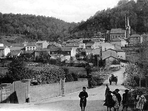 Herserange : vue dégagée sur le vieux village