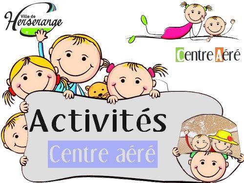 Activités du centre aéré du 30 juillet au 3 août