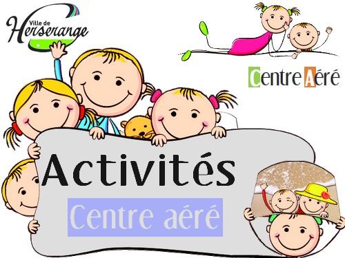 Activités du centre aéré du 13 au 17 août