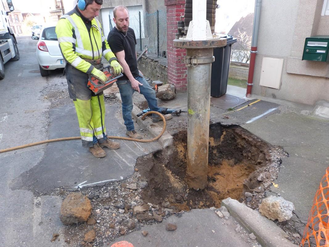 Travaux Rue de Liège : remplacement branchements plomb