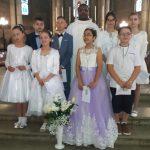 Huit enfants de la paroisse des apôtres Pierre-et-Paul ont reçu le corps du Christ