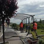 Travaux : installation d'un abri bus