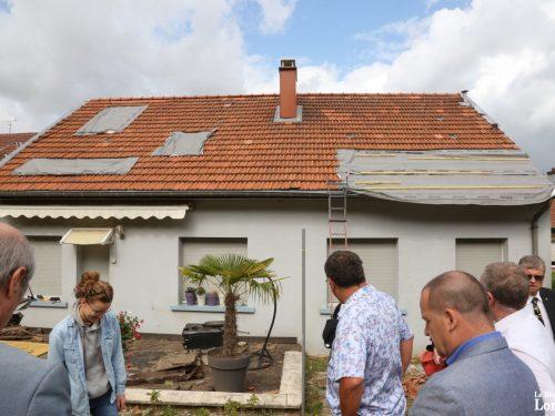 Tornade : le sous-préfet vient évaluer l'ampleur des dégâts