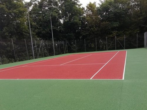 Travaux : Rénovation des courts de Tennis
