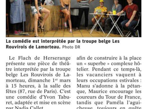 """Théâtre: Une """"Mer belle devenant agitée"""""""