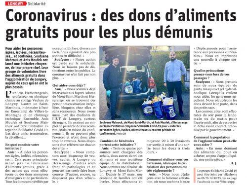 CORONAVIRUS: Des dons d'aliments gratuits pour les plus démunis