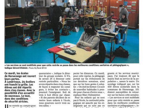 """Ecoles rouvertes: """"Un service rendu à la population"""""""