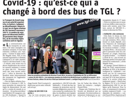 COVID-19: qu'est-ce qui a changé à bord des bus TGL?