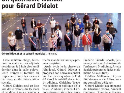 Un quatrième mandat pour Gérard Didelot