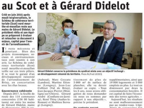 L'avenir du territoire lié au Scot et à Gérard Didelot
