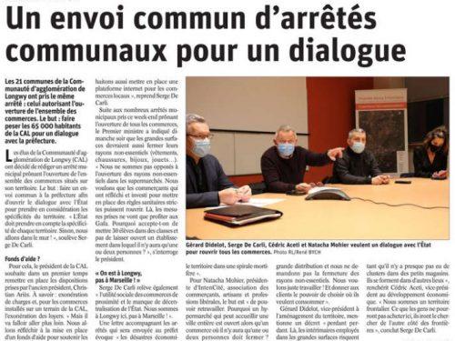 Communauté d'Agglomération de Longwy: Un envoi commun d'arrêtés communaux pour un dialogue