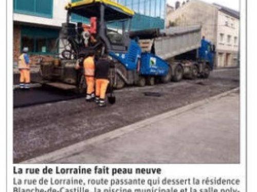 Travaux: La rue de Lorraine fait peau neuve