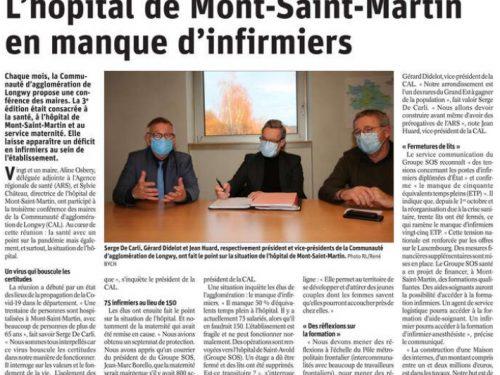 CAL: L'hôpital de Mont-Saint-Martin en manque d'infirmiers