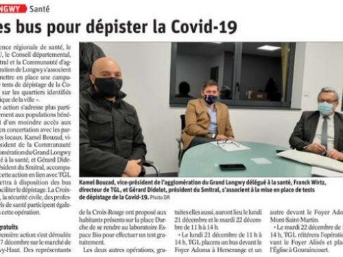 CAL – Santé: Des bus pour dépister la COVID-19