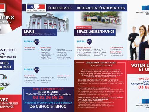 INFORMATION – ELECTIONS JUIN 2021